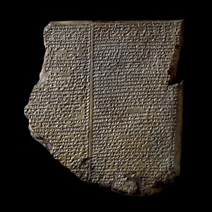 Clay tablets with cuneiform