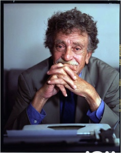 Vonnegut at typewriter