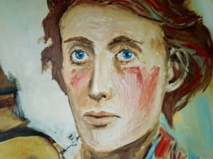 A painting of Virginia Woolf